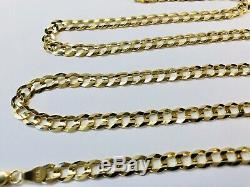 Mens 14k Solid Yellow Gold Cuban Link Chain Necklace 24, 5.7mm 20.4 Grams