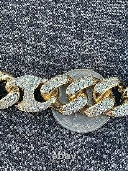 Mens Cuban Gucci Link Gold Over Stainless ICY Hip Hop Bracelet ICY Diamonds