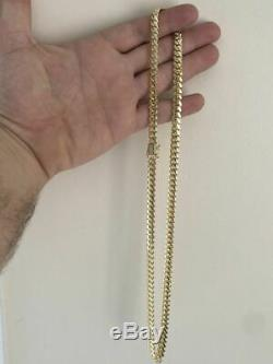 Mens Solid 14k Yellow Gold 7mm Miami Cuban Link Chain 24 88 Grams HEAVY Solid