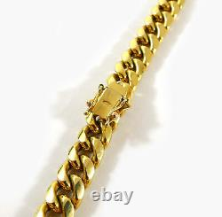 Miami Cuban Hollow Link 10k Yellow Gold Chain Necklace 28.5 9.3mm 58.5 Grams