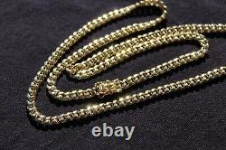 Miami Cuban Link 10k Yellow Gold Gold, 22, 4.5mm, Box Clasp, Semi-Hallow