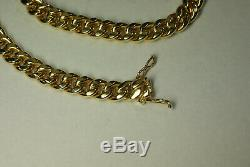 Miami Cuban Link Chain Men's Necklace 10K Yellow Gold GND Box Clasp 39.9g 20