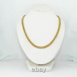 Modern 111.3g 14k Yellow Gold Miami Cuban Link 30 Chain Necklace