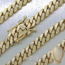 Modern 93.30g 14k Yellow Gold Miami Cuban Link 26 Chain Necklace