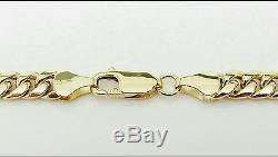 New 10K Yellow Gold Hollow Miami Cuban Link Chain Necklace 26 Inches 6.00mm