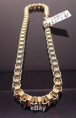 New 8 Inches 10k Yellow Gold Byzantine, Rope, Cuban Bracelet For Men's/Women's