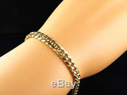 New Genuine 10K Yellow Gold Hollow Miami Cuban Link Style Bracelet (6MM) 8-9