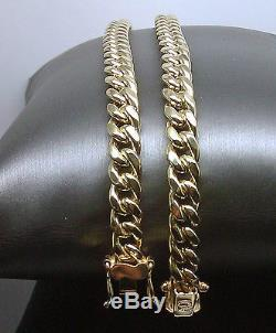 New Real 10k miami cuban chain Necklace 23 Inch 8mm, Box lock Strong links, Rope