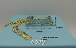 PERSONALIZED DOUBLE NAME PLATE 10k Gold / Necklaces 1620