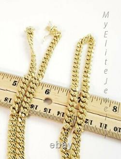REAL 10K Gold 6mm Miami Cuban Chain Necklace 24 Link Box Lock 10kt Yellow Gold
