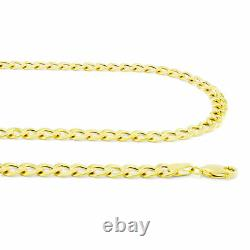 REAL 10K Yellow Gold 7.5MM Wide Link Cuban Curb Chain Necklace Lobster Clasp 20
