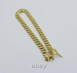 REAL 10k Gold Ladies Miami Cuban Bracelet 7.5 6mm 10kt Yellow Gold Strong Link