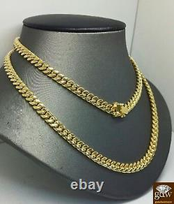 REAL 14K Gold Miami Cuban Chain Necklace 18 inch 8mm BOX LOCK
