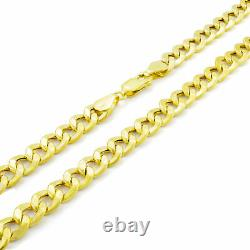 REAL 14K Yellow Gold 6.5MM WIDE 7in Womens Cuban Curb LINK Chain Bracelet 7