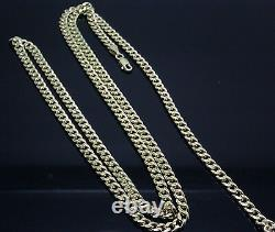 Real 10K Gold Chain Men women Miami Cuban Chain Necklace 28 inch 5 mm