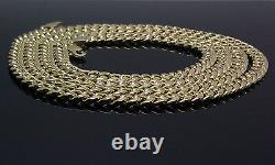 Real 10K Gold Chain Men women Miami Cuban Link Necklace 28 5mm lobster, STRONG
