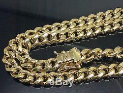 Real 10K Yellow Gold 24Inch miami cuban chain Necklace Box Lock Adjusted price N