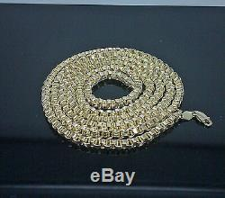 Real 10K Yellow Gold Byzantine Chain Necklace 28 Inch 3 mm Franco, Cuban, Rope N