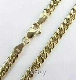 Real 10K Yellow Gold Miami Cuban Link Chain 4mm 18 Inches Necklace Lobster Solid