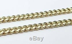Real 10K Yellow Gold Miami Cuban Link Chain 4mm 20 Inches Necklace Lobster Solid