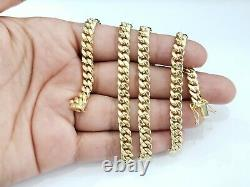 Real 10K Yellow Gold Miami Cuban Link Chain 6 mm 24 Inches Necklace Box Clasp