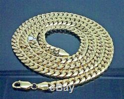 Real 10K Yellow Gold Miami Cuban Link Chain 8mm, 18 inch Choker, Rope, Franco N