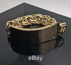 Real 10k Yellow Gold Chino Link ID Bracelet Box Lock 9, SOLID, New, rope, cuban N