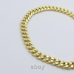Real 10k Yellow Gold Miami Cuban Bracelet Anklet 6mm 10 inch