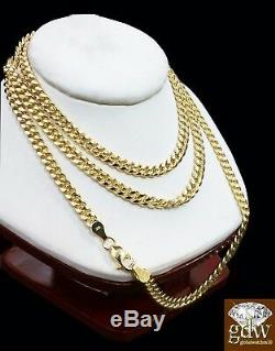 Real 10k Yellow Gold Miami Cuban Chain Necklace 22 Inch Men / Women Link, Rope