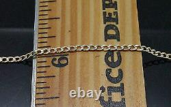 Real 10k Yellow Gold Thin Link Chain, Diamond Cut 20 Inch, 2mm Wide, Rope, Cuban N