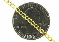 Real 14k Yellow Gold Genuine Women's SOLID 2.5mm Curb Cuban Chain Bracelet- 7