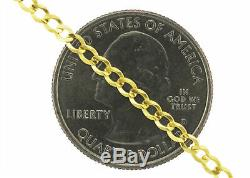 Real 14k Yellow Gold Women Solid 2.5mm Curb Cuban Chain Bracelet or Anklet 7-9