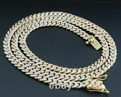 Real Diamond Miami Cuban Chain Mens 10K Yellow Gold 11mm Necklace Link 8 CT