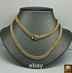 Real Gold Chain For Men/Ladies 10k Miami Cuban chain 22 inch Strong Link