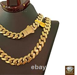 Solid 10k Gold Mens Miami Cuban Royal Link Chain 26 inch 11mm Real Gold
