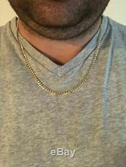 Solid 10k Yellow Gold Men's 5mm Cuban Link Chain 20 22 24 10-13 Grams