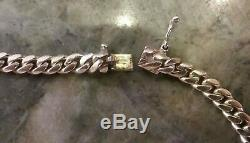 Solid 14k Yellow Gold 5mm Miami Cuban Link Chain 17 long 39.25 Grams (M30)