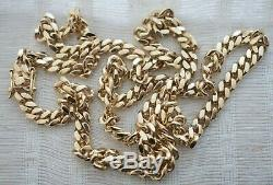 Solid 14k Yellow Gold Miami Cuban Curb Link Men's Chain Necklace 26 70g 5.7mm