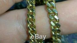 Solid heavy 10k gold 4.5mm cuban curb chain necklace 25.86 grams 15.75 long